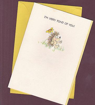 VTG-1980s-Hillary-Hedgehog-Greeting-Card-Very-Fond