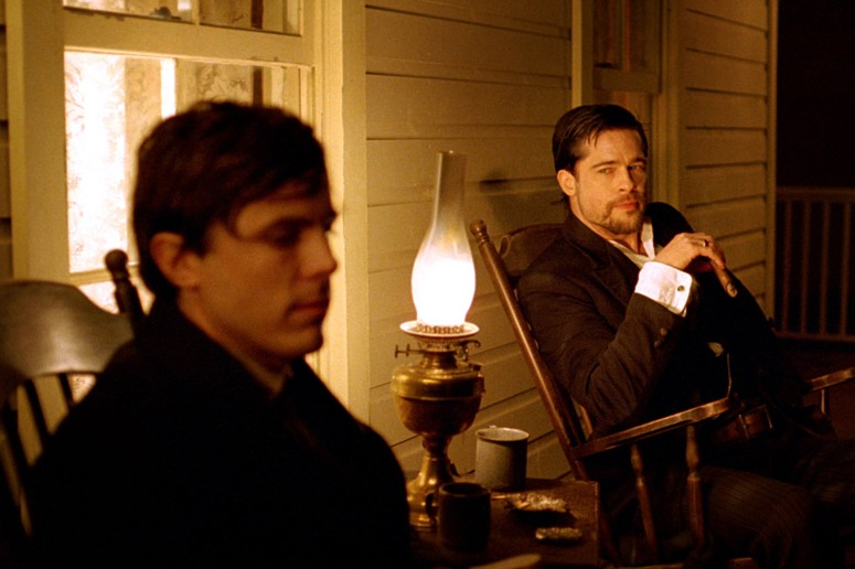 THE ASSASSINATION OF JESSE JAMES BY THE COWARD ROBERT FORD, Casey Affleck as Robert Ford, Brad Pitt
