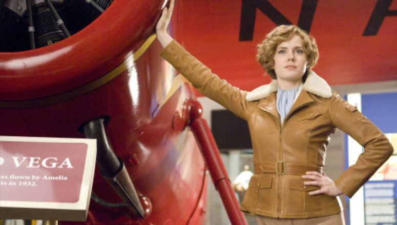 Amy Adams is famed aviatrix Amelia Earhart.  Ph: Doane Gregory